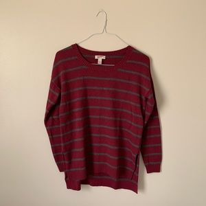 Maroon Stripped Arizona Jeans Sweater